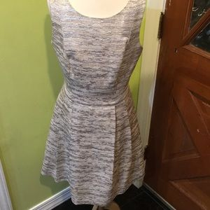 Trina Turk Dress silver and gold shimmer fabric